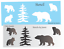 Joanie Stencil Rustic Momma Bear Cubs Lodge Tree Mountain Cabin Outdoor signs
