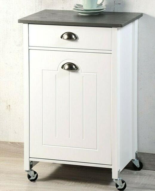 Kesper 25506 Küchenwagen mit Mülltrennung 50 x 79 x 37 cm, weiß ,NEU ,OVP