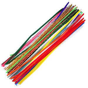 Chenille-Craft-STELI-PIPE-CLEANERS-30cm-12-034-Colori-Misti-almeno-10-x50