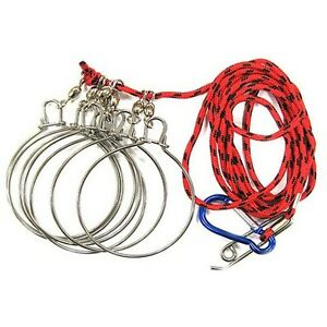 Made in korea 2m cord fish round stringer stainless snap for How to use a fish stringer