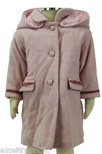 Girls' Clothing (newborn-5t) Jacadi Girl's Attique Tender Pink Coat Size 6 Months Nwt $112 Perfect In Workmanship