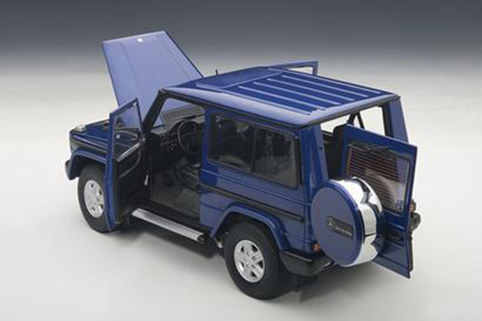 Autoart Mercedes Benz G Modèle 27.4mS Swb Bleu Couleur 1 18 Échelle Neuf   en