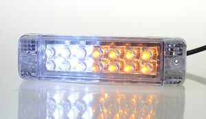PAIR-of-LED-Indicators-Signals-DRL-or-Park-lights-For-ARB-Bullbars-135-x-38mm