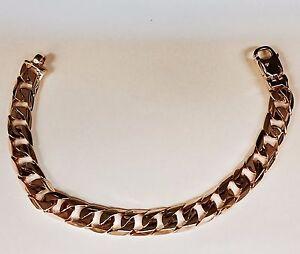 Image Is Loading 18k Solid Rose Gold Handmade Curb Link Mens