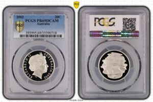 2002-Australia-20-Cents-PCGS-PR69DCAM-Proof-Coin-In-High-Grade