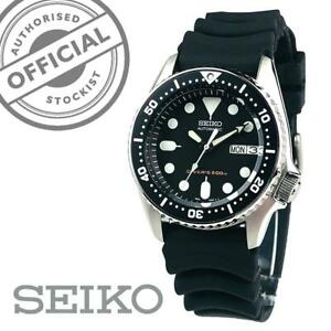 Seiko-SKX013K1-Divers-Automatic-Black-Dial-Rubber-Strap-Mens-Watch-SKX013-349