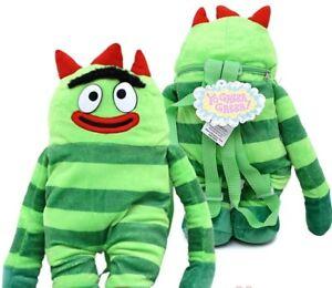Yo-Gabba-Gabba-Brobee-Plush-Backpack-Pillow-cuddle-Zipper-Bag-NEW-18-inches-bag
