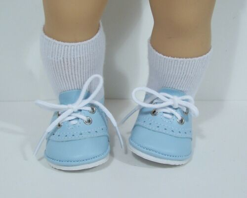 """Debs Solid LT BLUE Saddle Oxford Doll Shoes For 15/"""" Bitty Baby /& Twins"""