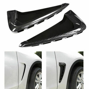 Air-Flow-Fender-Grill-Intake-Vent-Trim-Carbon-for-X5-F15-2014-2015-Side-Wing