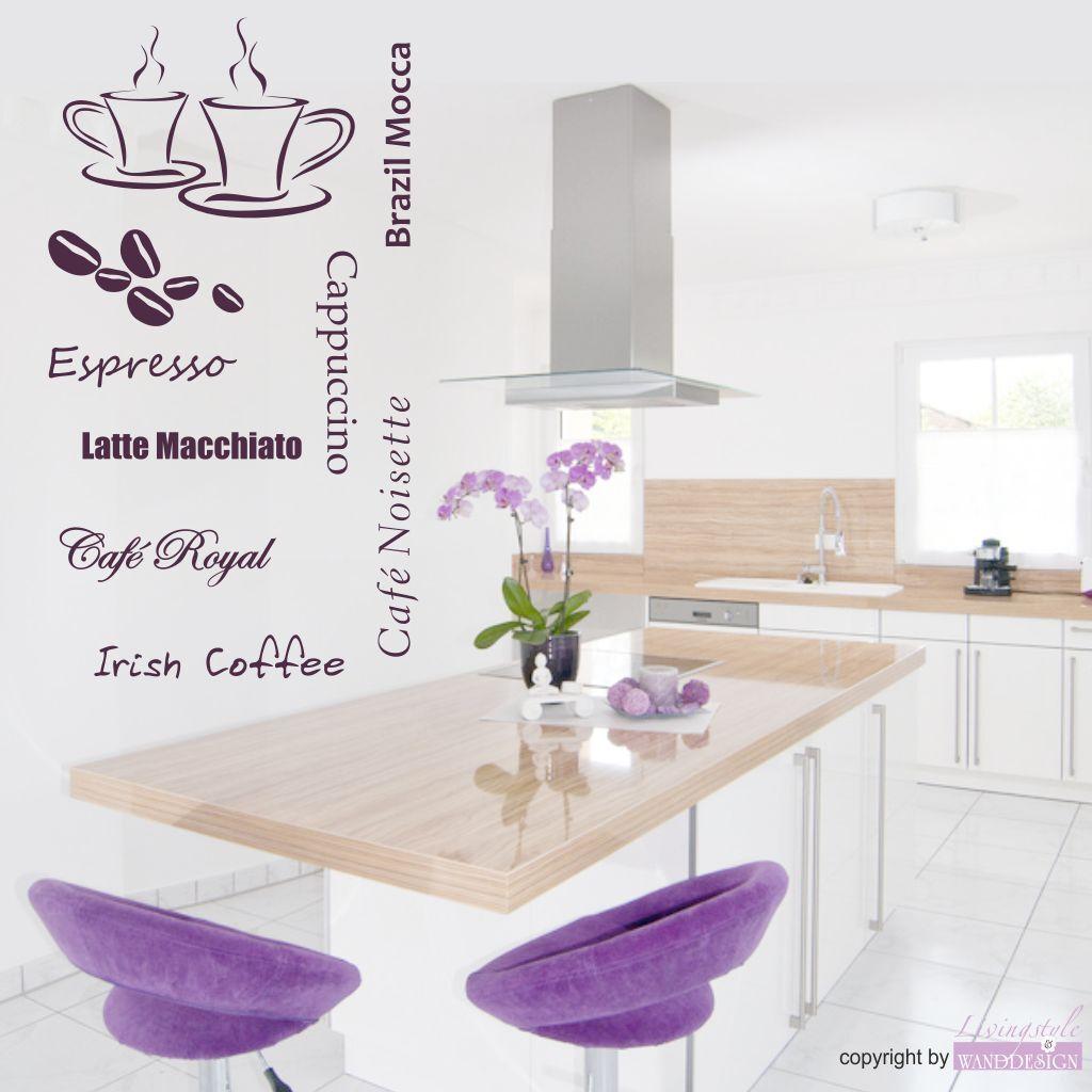 Tatuaggio Parete 7 varietà di caffè caffè tazze cucina Espresso Cappuccino Adesivo Muro