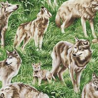 Wolf American Wildlife Fabric By Yard Wolves Quilt Sew