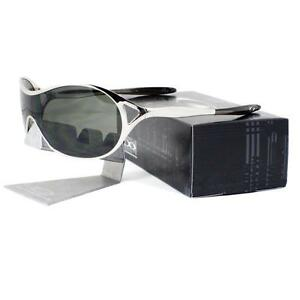 c4f9af640146f Oakley OO 4039-03 DECEPTION Polished Chrome Frame Dark Grey Womens ...