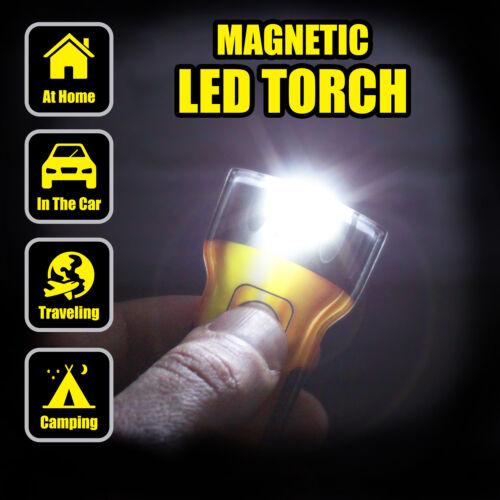 Magnétique Puissant DEL Lampe de poche-Super Slim 5 mm épaisseur forte Aimant Dos