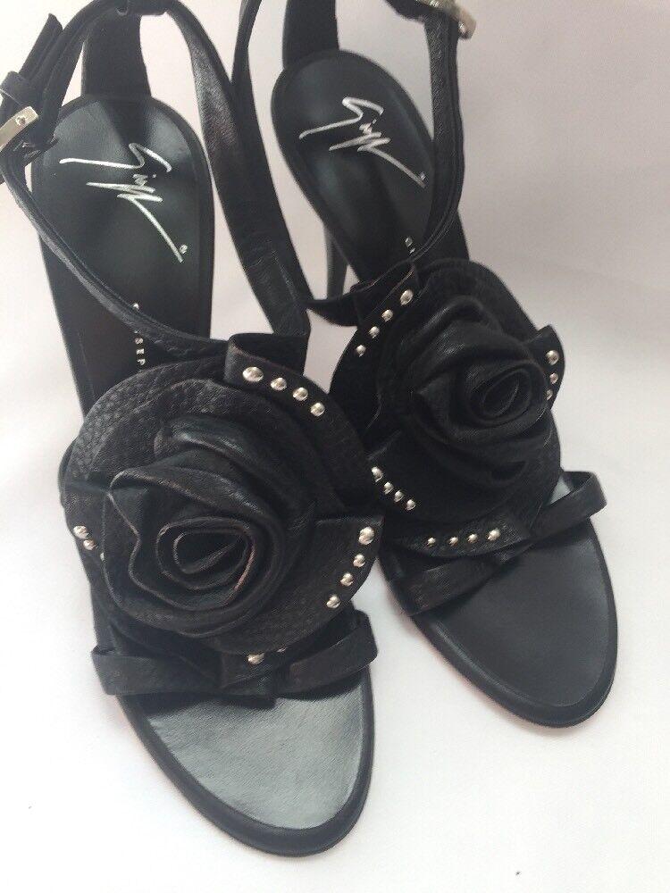 Giuseppe Zanotti Sandals shoes pinktte Leather Black US 6 36 SARAGEIN  750