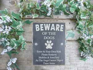Humorous-Beware-Of-The-Dogs-Slate-Gate-Plaque