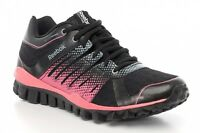 Girls Ladies Womens Reebok Stregnth Running Trainers Shoes - Black Pink