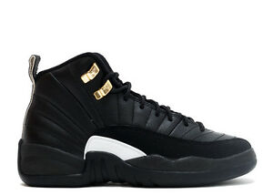info for 9a311 868d6 Details about Nike Air Jordan 12 Retro BG 153265 013 GS The Master black  gold big kids boys