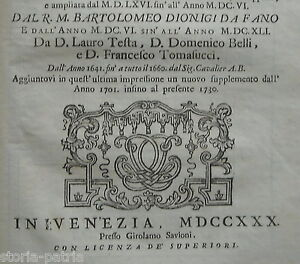 VENETO-VERONA-MARCHE-FANO-TEOLOGIA-RELIGIONE-ANTICA-OPERA-STORICO-CRONOLOGICA
