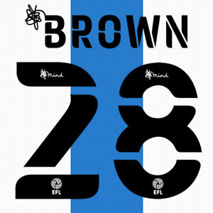 2020 2021 OFFICIAL HUDDERSFIELD TOWN HOME NAME SET BROWN 28 = PLAYER SIZE