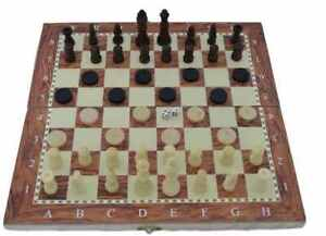 3-IN-1-Natural-Wooden-Folding-Chess-Checkers-backgammon-Game-Set-34cm-x-34cm