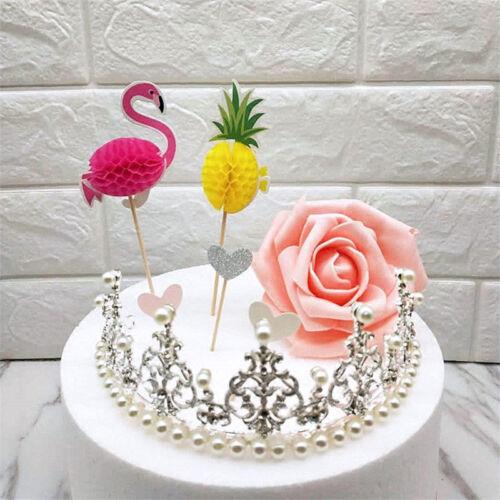 Flamingo Ananas Cake Topper Fête Gâteau Fruit Mariage Décoration Bâtons Picks