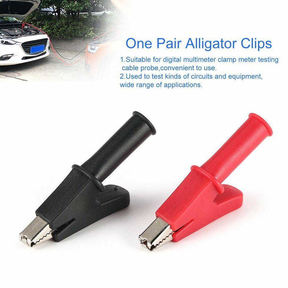 40PCS 10A Plastic insulated Alligator clip for Multimeter pen Probes