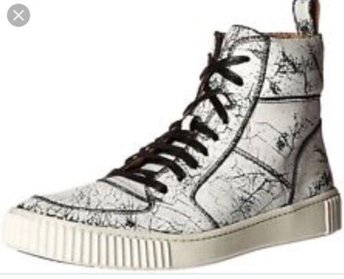 Pelle Hitop 10 Nuovo Crackle Bedford Bianco Men John Nero Usa Sneaker Varvatos vvW7qwUFHx