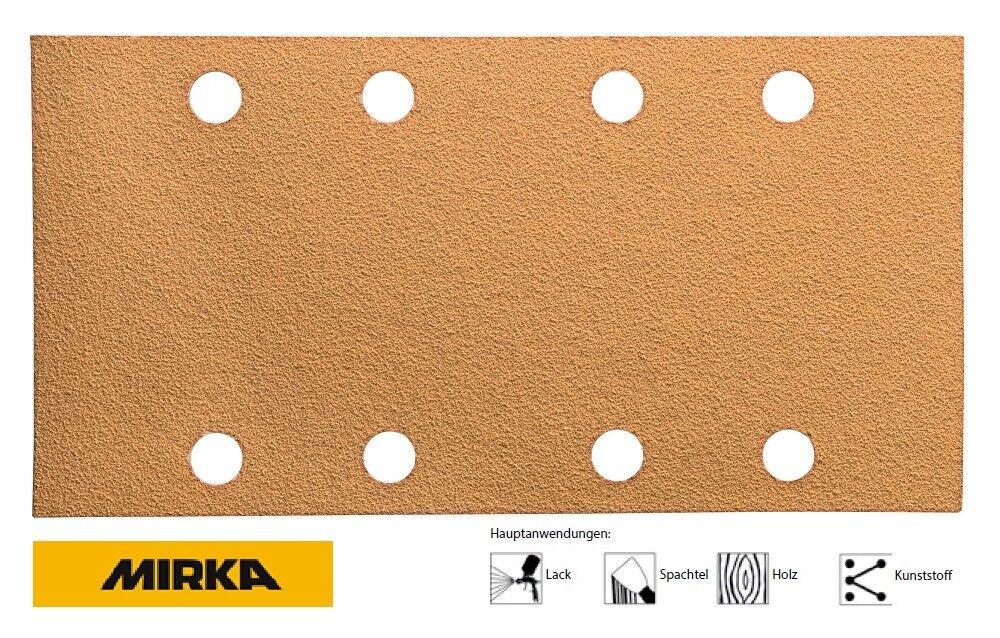 Mirka Strisce Abrasive gold a Strappo 93 x 180 mm 8 fach loch Granulometria