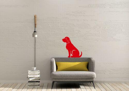 Labrador Sitting Pet Design Home Decor Animals Wall Art Decal Vinyl Sticker