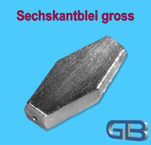 Sechskantblei-Inliner-80g-100g-120g-150g-Durchlaufblei-Blei-Angelblei-Grund