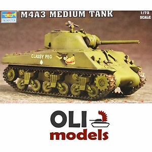 1-72-M4A3-SHERMAN-Medium-Tank-Trumpeter-07224