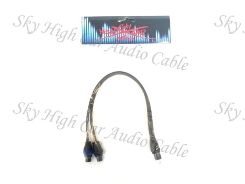 Sky High Car Audio Twisted 2 Female 1 Male RCA Splitter Cables OFC 2F1M