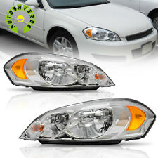 Headlights For 06 07 Monte Carlo 2009 2013 Chevy Impala Chrome Replacement Pair Fits 2006 Impala