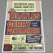 BEATLES + GERRY AND THE PACEMAKERS - NEW BRIGHTON FRIDAY 14th JUNE (A3 SIZE)