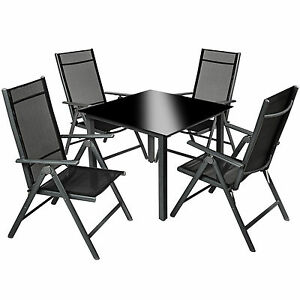 Aluminium-4-1-salon-de-jardin-ensemble-sieges-meubles-chaise-table-en-verre-gris