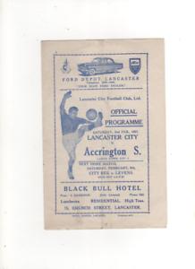 195657 LANCASTER CITY v ACCRINGTON STANLEY Reserves 2nd February 1957 - Accrington, United Kingdom - 195657 LANCASTER CITY v ACCRINGTON STANLEY Reserves 2nd February 1957 - Accrington, United Kingdom