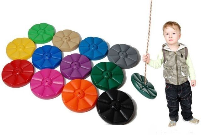 Plastic Button Monkey Swing Seat & Rope Outdoor Climbing frame Acc, Garden tree