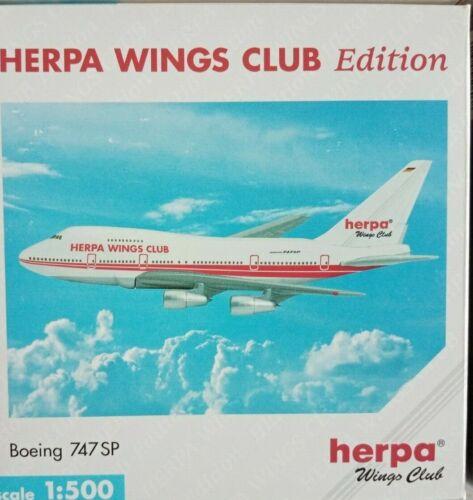 Herpa Wings 1:500 Herpa Wings Club B747SP ✈