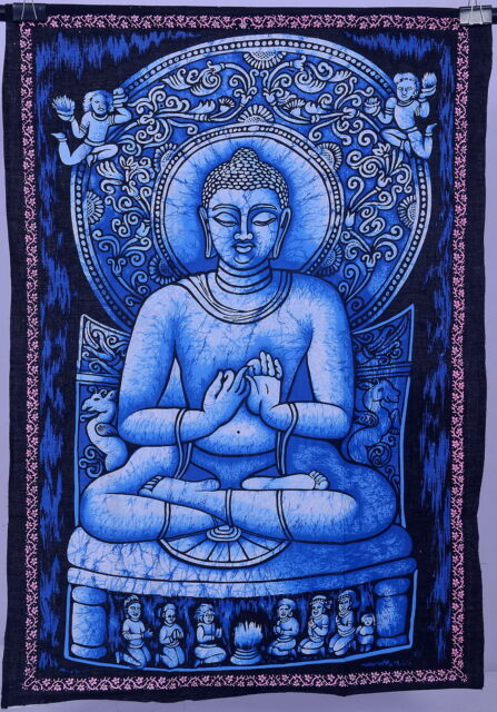 Indian Buddha Painting Wall Tapestry Buddhism Bodhi Ethnic Tibet Decor Art 40*28