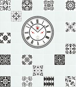 Home & Garden Mosaic Pattern Stickers Transfers For 200mm x200mm & 8 x 8 inch Tiles GT01