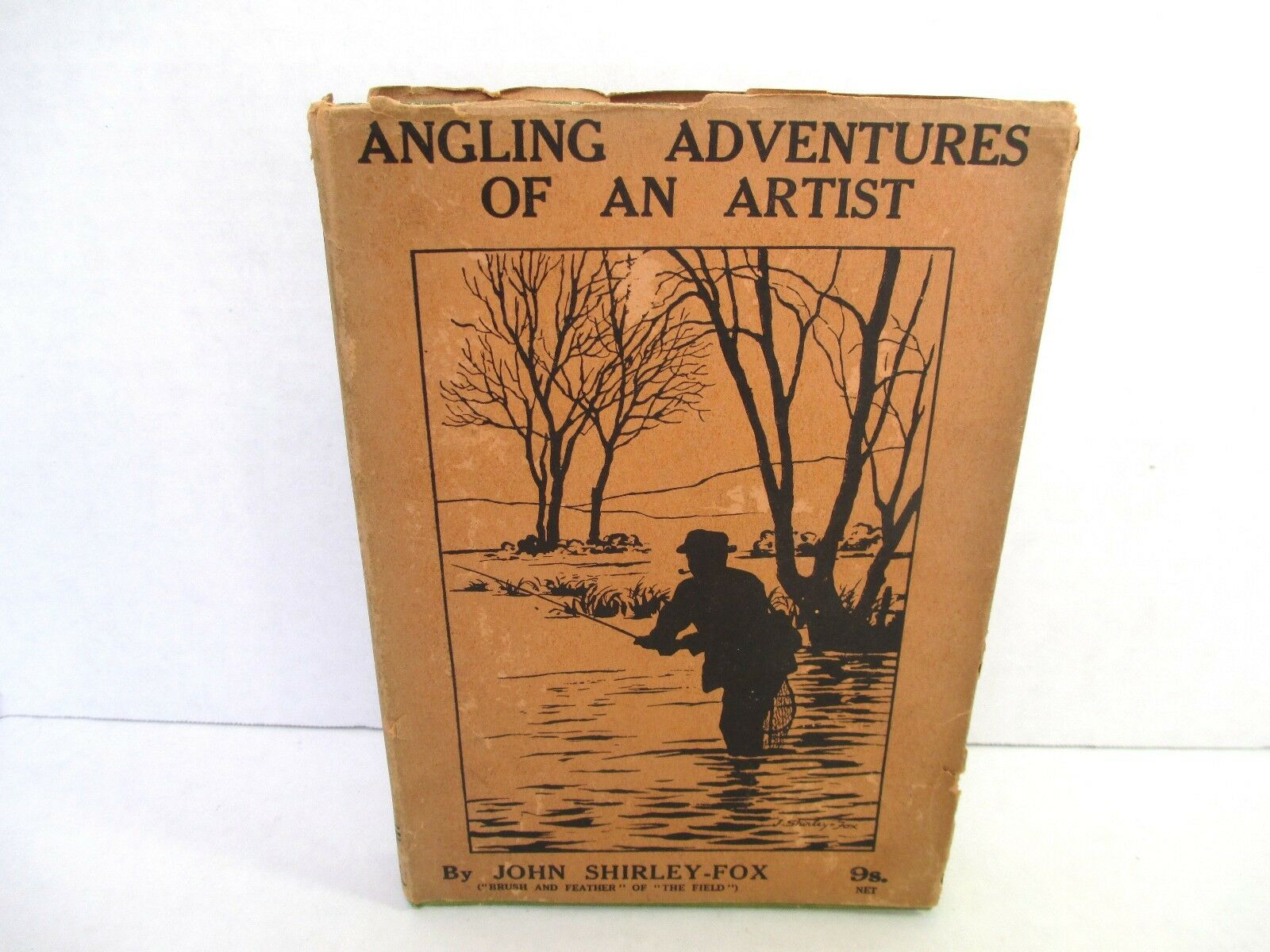 Rare 1923 Angling Adventures of An Artist John Shirley Fox Fishing Book HC w DJ