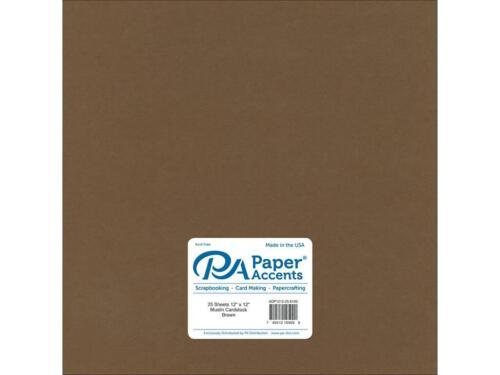 PAPER ACCENTS ADP1212-25.8100  ADP1212-25 8100 CDSTK MUSLIN 12X12 73LB BROWN