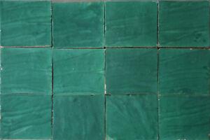 Zellige fliesen grün im großformat cm handarbeit wand