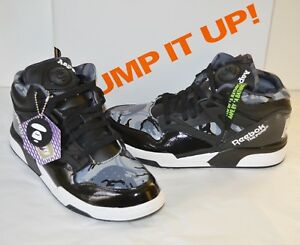 ee4f5d518229 New Reebok Pump Omni Lite Aape Bathing Ape Camo Black White sz 9.5 ...