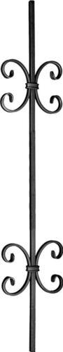 Torstab für Schmiedeeisen mit Zierornametne Glatt 95cm 12x12 Zaunstab Zaun 008