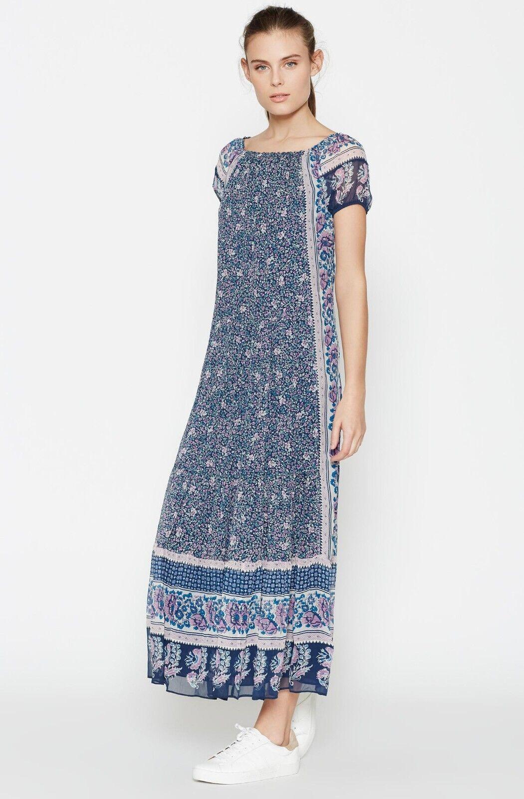 New Joie  bluee Avatara Silk Off-the-shoulder Maxi Dress size L
