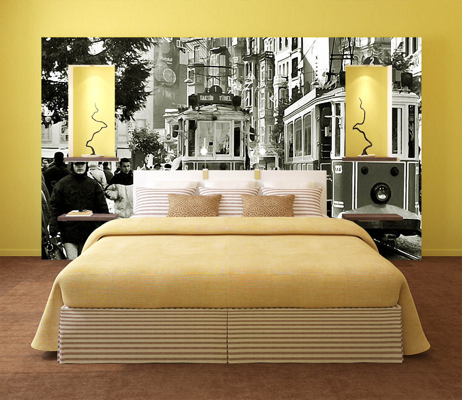 3D City Street Sketch Paper Wall Print Wall Decal Wall Deco Indoor Murals