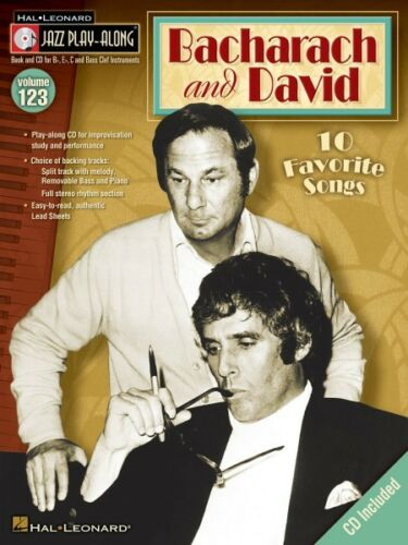 Bacharach and David Jazz Play Along Book and CD NEW 000843185