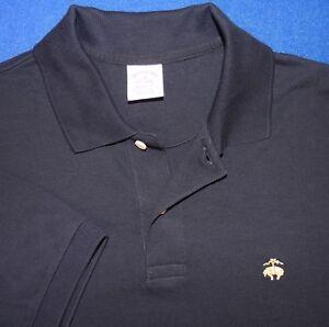 M Brooks Brothers 1818 Pique Blue Golden Fleece Sheep Logo Polo