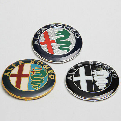 Color Snake Car Front Grille Emblem Badge Sticker Decorative,For Alfa Romeo Giulietta Giulia Mito GT 147 156 159 166 166 Stelvio